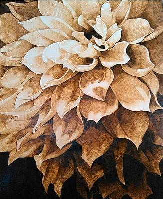 Shading On Flowers Pyrography - The Flower by Marsha Wilson