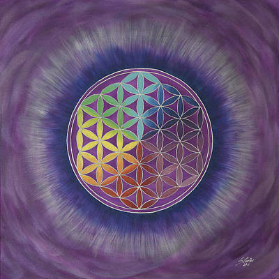 The Flower Of Life Original by Silvia Flores