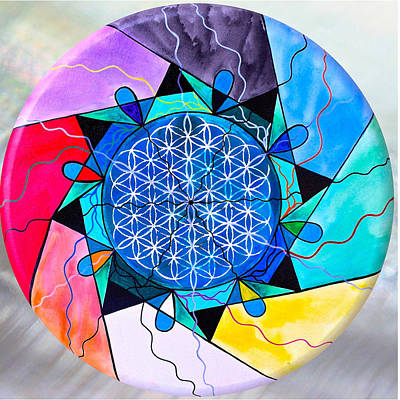 Healing Painting - The Flower Of Life by Teal Eye Print Store
