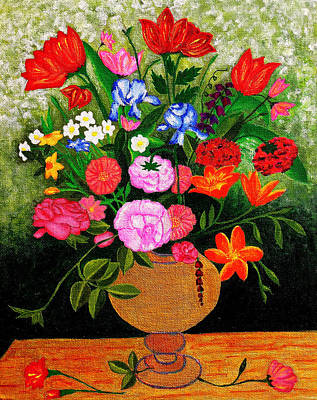 Composite Painting - The Flower Pot by Farah Faizal