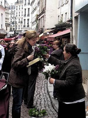 The Flower Seller Art Print by Lori  Secouler-Beaudry