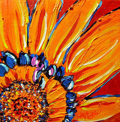 Bold Flower Painting - The Flower by Vickie Warner