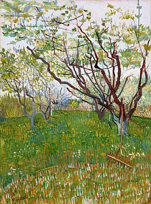 Painting - The Flowering Orchard by Artistic Panda