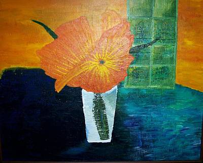 The Flowers In The Vase Art Print by Roy Penny