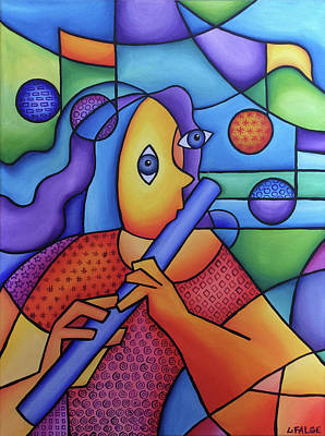 Painting - The Flute Player by Lindi Levison