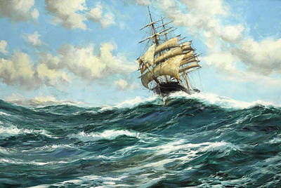 Water Vessels Painting - The Flying Clipper, Sir Lancelot by Montague Dawson