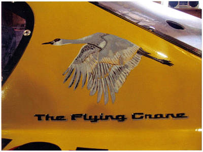 Nascar Painting - The Flying Crane by Richard Le Page