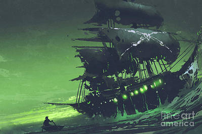 Airplane Paintings - The Flying Dutchman by Tithi Luadthong