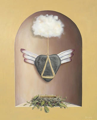 Metaphysical Painting - The Flying Lesson by Paul Bond