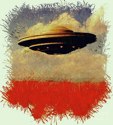Science Fiction Royalty-Free and Rights-Managed Images - The Flying Saucer by Raphael Terra