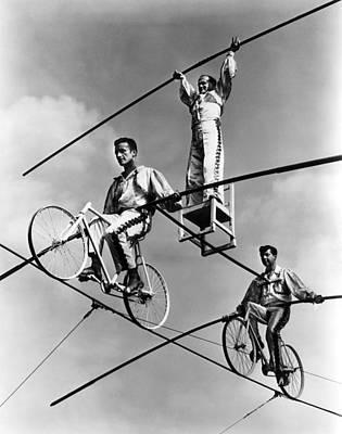 The Flying Wallendas Photograph - The Flying Wallendas, 1967 by Everett