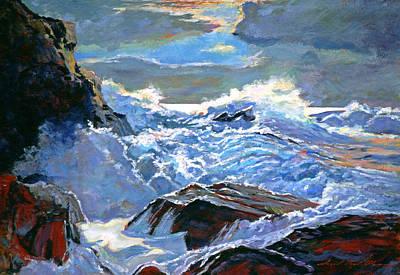 The Foaming Sea Art Print by David Lloyd Glover