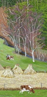 Painting - The Fodder's In The Shock by Barb Pennypacker