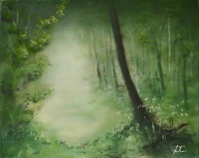 Eco-tourism Painting - The Fog by Dagmara Czarnota
