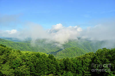 Photograph - The Fog Rises Over The Bluestone Gorge - Pipestem State Park by Kerri Farley