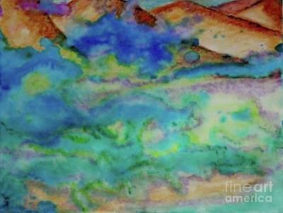 Art Print featuring the painting The Fog Rolls In by Kim Nelson