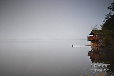Boathouse Photograph - The Fog by Nichola Denny