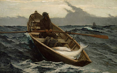 American Painters Painting - The Fog Warning  by Winslow Homer