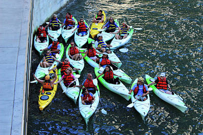 Photograph - The Folks - Chicago Kayakers by Frank Romeo