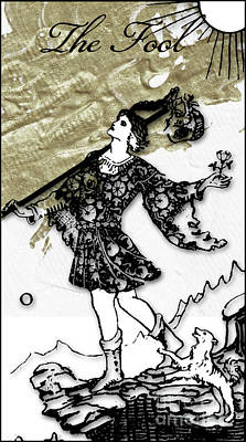 Arcana Wall Art - Painting - The Fool Arcana by Mindy Sommers