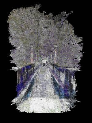 Pathway Digital Art - The Foot Bridge by Tim Allen