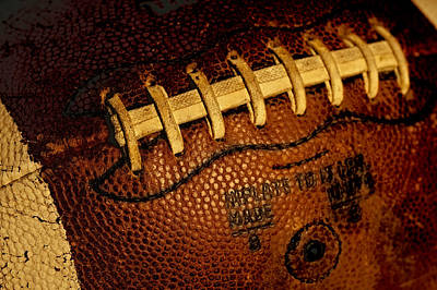 Footballs Closeup Photograph - The Football 3 by David Patterson