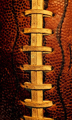 Footballs Closeup Photograph - The Football 4 by David Patterson