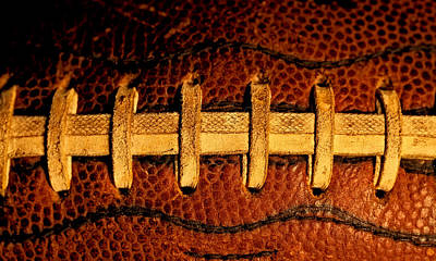Footballs Closeup Photograph - The Football 5 by David Patterson