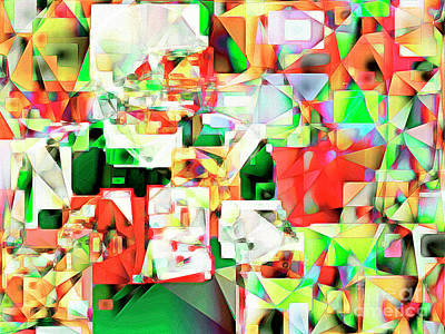 Photograph - The Football Quarterback In Abstract Cubism 20170328 by Wingsdomain Art and Photography