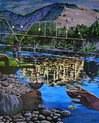Painting - The Footbridge by Tim  Joyner