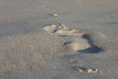 Photograph - The Footprint Of Invisible Man On The Sand by Yoel Koskas