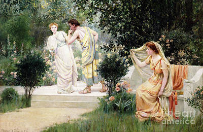 Painting - The Forbidden Kiss by Francis Coates Jones
