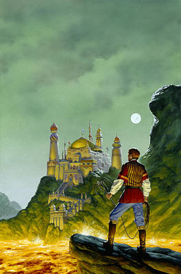 Knights Castle Painting - The Forbidden Palace by Richard Hescox