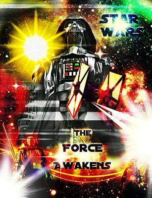 Photograph - The Force Awakens Fan Art Poster II by Aurelio Zucco
