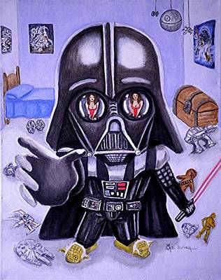 Darth Vader Painting - The Force Is Strong With This One by Al  Molina