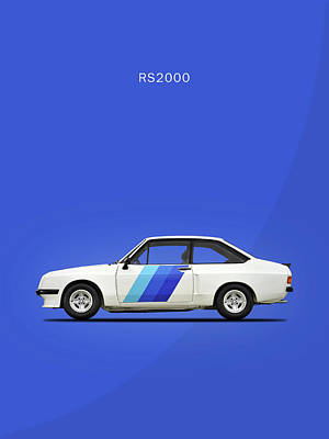 Escort Photograph - The Ford Escort Rs2000 by Mark Rogan