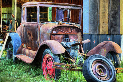 Photograph - The Ford Model A by JC Findley