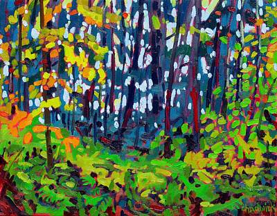 Birder Painting - The Forest And The Trees by Phil Chadwick