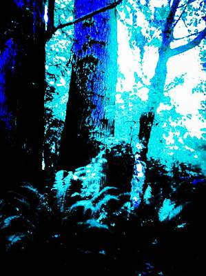 Mixed Media - The Forest Blue by Jennifer Lake