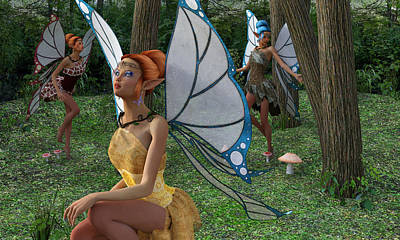 Faery Digital Art - The Forest Never Tells by Betsy Knapp