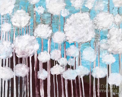 Painting - The Forest Of Fluff  by Wonju Hulse