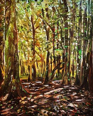 Painting - La Foret Du Mount Beuvray by Belinda Low
