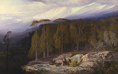 Italian Landscapes Painting - The Forest Of Valdoniello, Corsica by Edward Lear