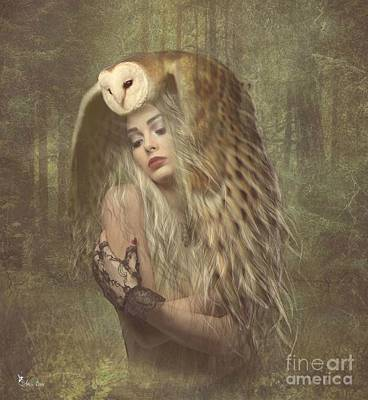 Digital Art - The Forest Protector by Ali Oppy