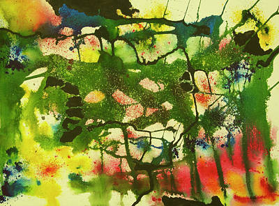 Wall Art - Painting - The Forest by Terry Arroyo Mulrooney
