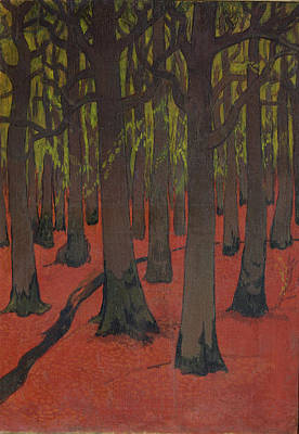 The Forest With Red Earth Art Print