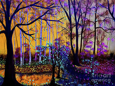 Painting - The Forest - Yellow Pond  by Heather McKenzie