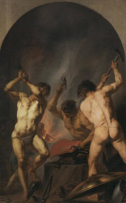 Hephaestus Wall Art - Painting - The Forge Of Vulcan by Theodoor van Thulden