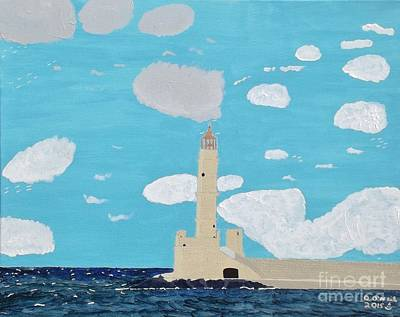 New England Lighthouse Painting - The Forgotten Lighthouse by Dennis ONeil