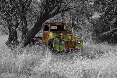 Photograph - The Forgotten Truck by Richard J Cassato